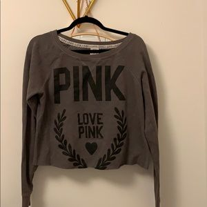 PINK Victoria's Secret Cropped Sweater 🤍🖤